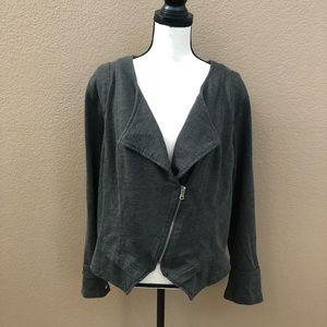 Torrid dark gray zip up blazer long sleeves Sz 3